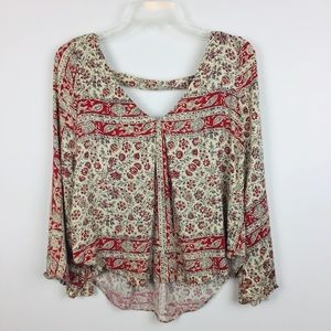 Chaser   Boho Floral Paisley Top XS